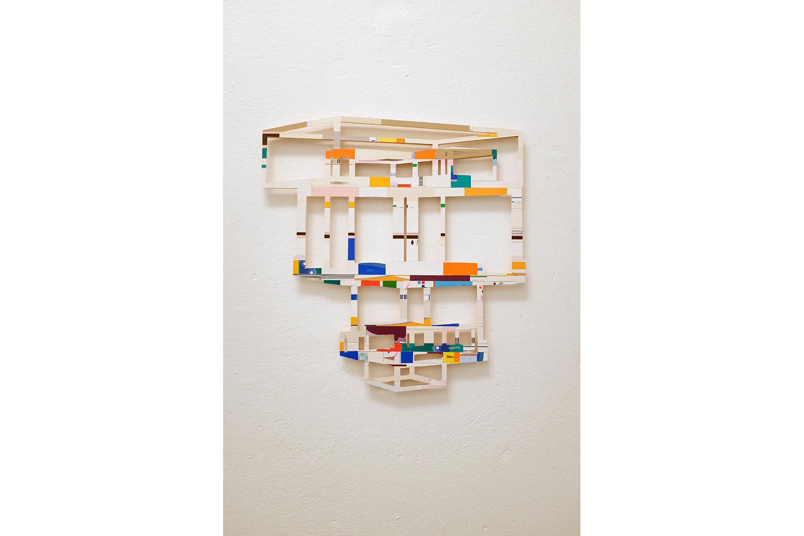collage, medicin box, wallpiece