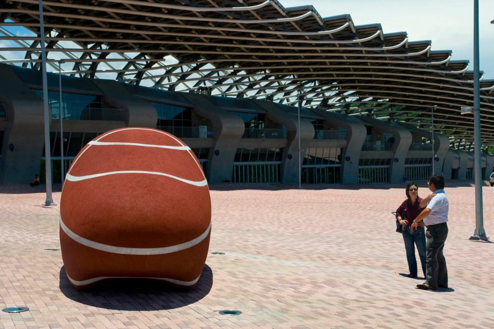 large scale sculpture sportstadium taiwan