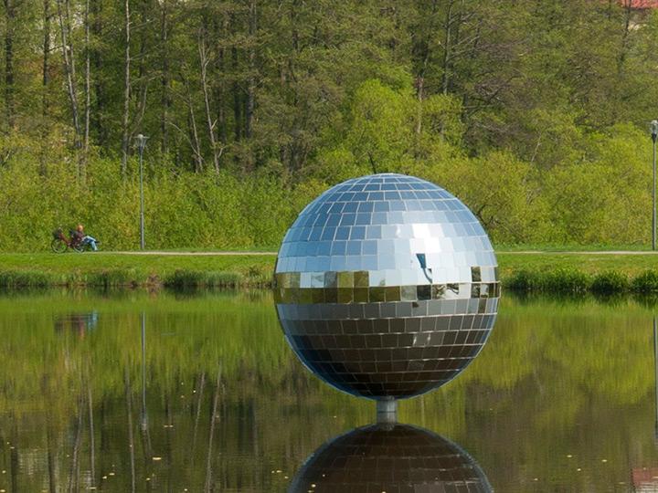 sculpture on water-lake